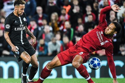 Van Dijk Liverpool vs PSG