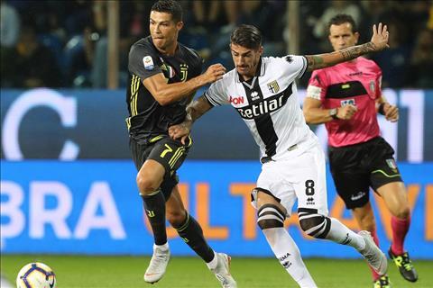 Juventus vs Parma Ronaldo di bong