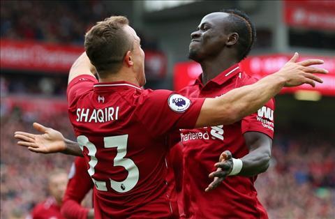 Shaqiri va Mane cua Liverpool