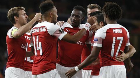 Thủ môn Bernd Leno và tiền vệ Lucas Torreira của Arsenal ở Cúp C2 hình ảnh