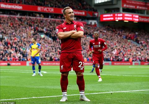 Shaqiri moi la cau thu noi bat nhat trong tran Liverpool 3-0 Southampton.