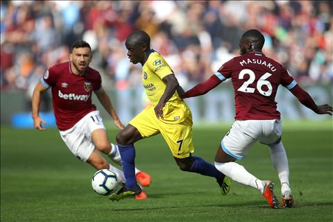 Kante tran Chelsea vs West Ham