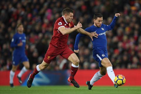 Milner co the la quan bai quan trong de kiem che Hazard trong tran Chelsea vs Liverpool.