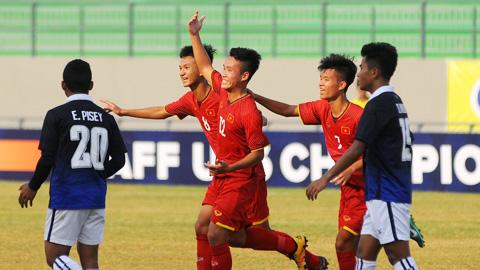 Trực tiếp U16 Việt Nam vs U16 Indonesia VCK U16 châu Á 2018 hình ảnh