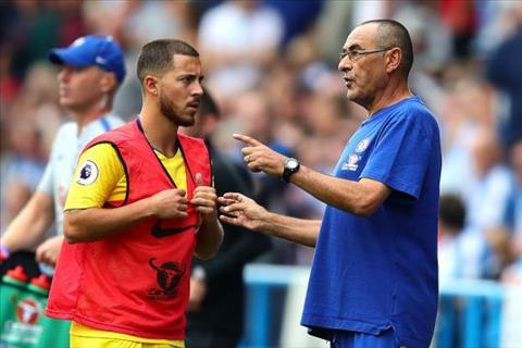 Tiền vệ Hazard nói về HLV Sarri của Chelsea hình ảnh