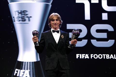 Luka Modric giành giải The Best của FIFA và phát biểu hình ảnh