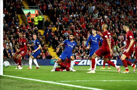 Emerson ghi ban go hoa 1-1 Liverpool vs Chelsea