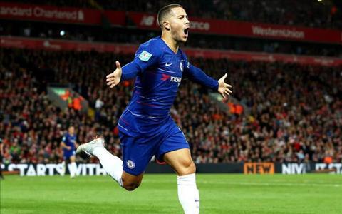 Terry phấn khích pha lập công của Eden Hazard vào lưới Liverpool hình ảnh