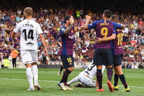 Barca ghi ban truoc Huesca