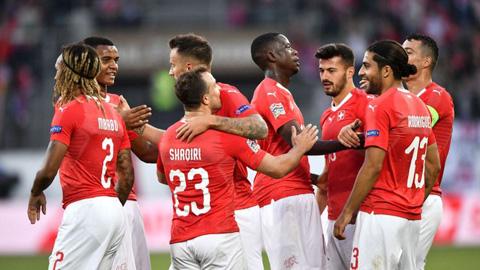 Clip bàn thắng Thụy Sỹ vs Iceland 6-0 UEFA Nations League 201819 hình ảnh