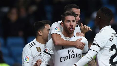 Sergio Ramos ghi 100 ban thang o tran Real Madrid 3-0 Leganes