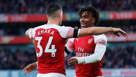 Alex Iwobi tran Arsenal vs Fulham