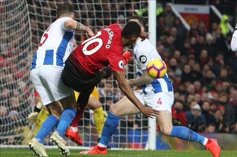 M.U 2-1 Brighton Rashford ghi ban
