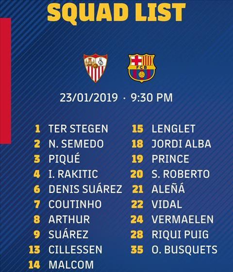 doi hinh Barca vs Sevilla
