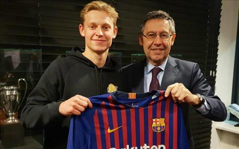 Frenkie de Jong không hối hận vì rời Ajax tới Barca hình ảnh
