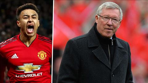 Jesse Lingard biet on Sir Alex