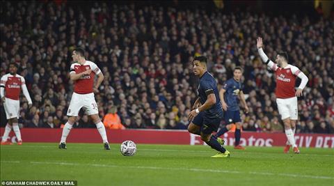 Alexis Sanchez Du am Arsenal 1-3 MU vong 4 FA Cup