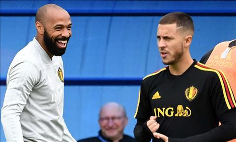 Eden Hazard và Romelu Lukaku chào đón Thierry Henry trở lại ĐT Bỉ hình ảnh