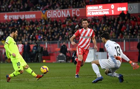 Girona 0-2 Barca Messi lop bong