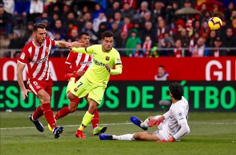 Girona 0-2 Barca Coutinho bo lo co hoi