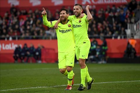 Jordi Alba phát biểu sau trận Girona 0-2 Barca hình ảnh