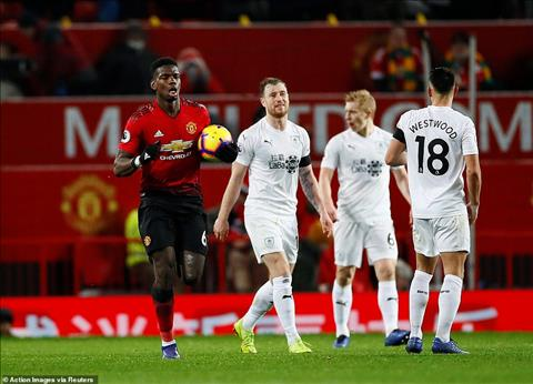 Pogba tran MU vs Burnley