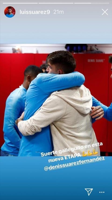 Luis Suarez noi ve Denis Suarez