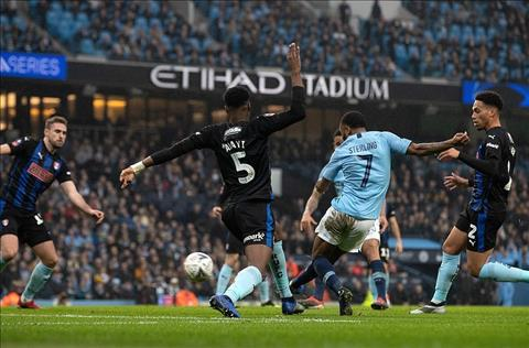 Man City vs Rotherham Sterling ghi ban
