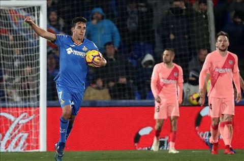 Mata ghi ban cho Getafe truoc Barca