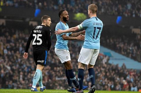 Man City vs Rotherham Sterling va De Buyne