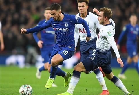 Tottenham vs Chelsea Eden Hazard da so 9 ao