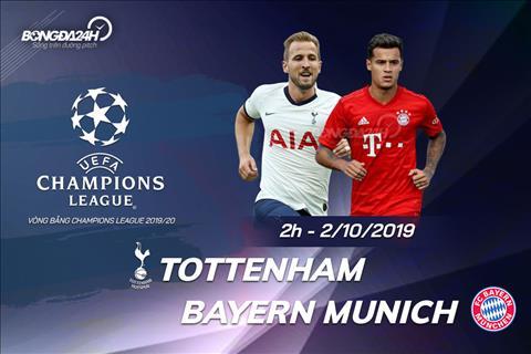 Trực tiếp Tottenham vs Bayern Munich bảng B UEFA Champions League hình ảnh