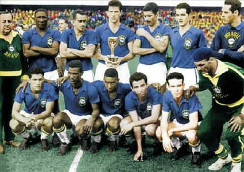DT Brazil vo dich ba ky World Cup 1958, 1962 va 1970 nho so do chien thuat 4-2-4.