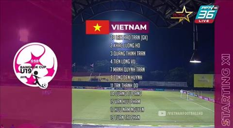 Danh sach xuat phat cua U19 Viet Nam