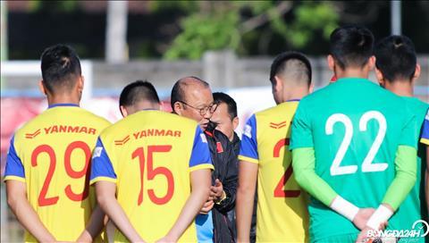ẢNH Đỡ hụt bóng, Văn Thanh bị HLV Park Hang Seo lên gối hình ảnh