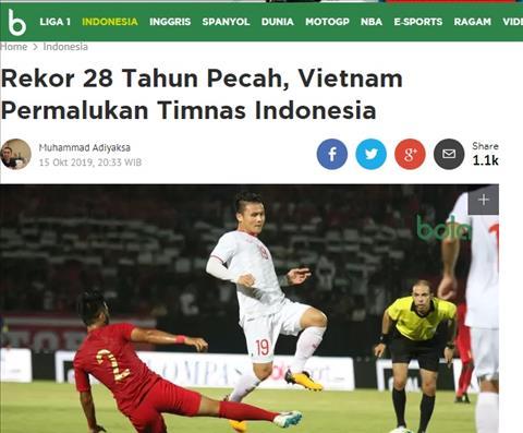 To Bola nhac toi viec ky luc keo dai 28 nam cua nguoi Indonesia truoc Viet Nam da bi xo do sau that bai toi 15/10