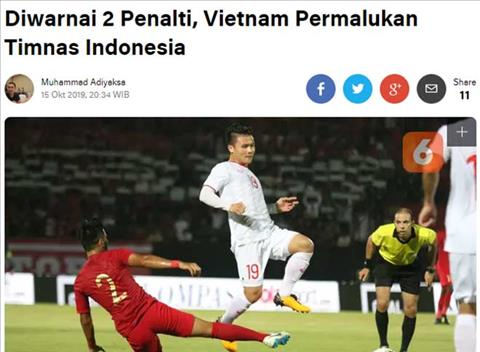 Báo Indonesia nói gì về kết quả Việt Nam thắng Indonesia hình ảnh
