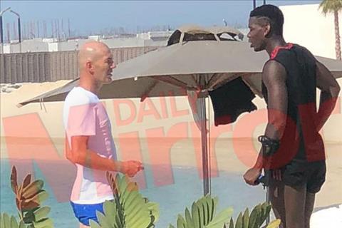 Zinedine Zidane gặp gỡ Pogba tại Dubai với mục đích gì hình ảnh