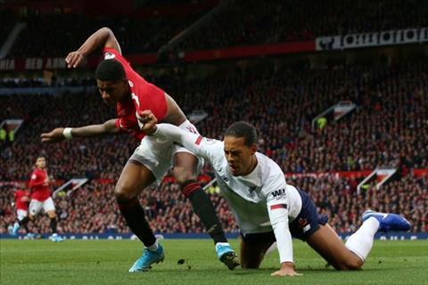 Rashford vs Van Dijk MU 1-1 Liverpool