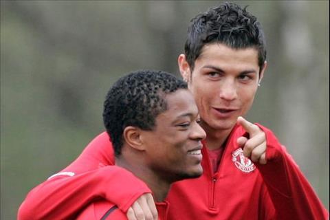 Patrice Evra va Ronaldo