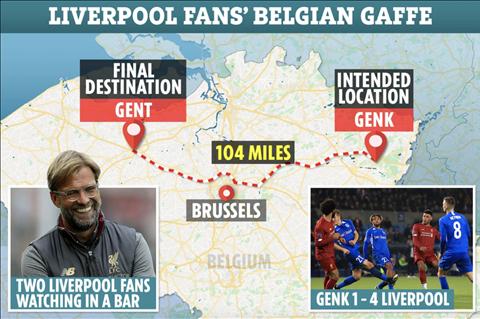 Đỉnh cao của ngu ngốc CĐV Liverpool bỏ lỡ trận đấu vì mù đường hình ảnh