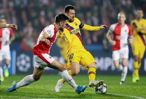 Slavia Prague 1-2 Barca Messi tỏa sáng, Blaugrana thắng nhọc trên đất Séc hình ảnh 3