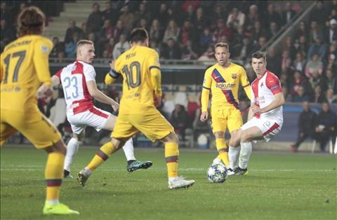 Slavia 1-2 Barca Messi là chính mình, nhưng Blaugrana thì chưa hình ảnh