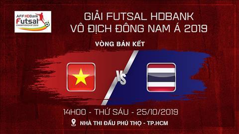 Trực tiếp kết quả Việt Nam vs Thái Lan AFF HDBank Futsal 2019 hình ảnh