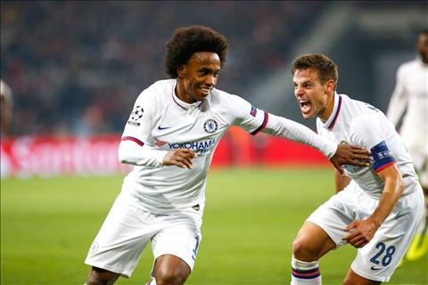 Lille vs Chelsea Willian ghi ban