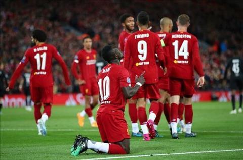 Liverpool vs Salzburg Mane an mung