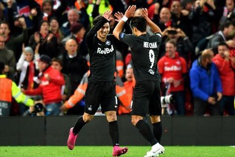 Liverpool vs Salzburg Minamino va Hwang