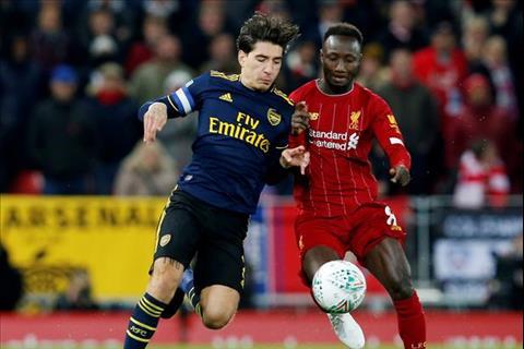 Liverpool vs Arsenal Naby Keita va Bellerin
