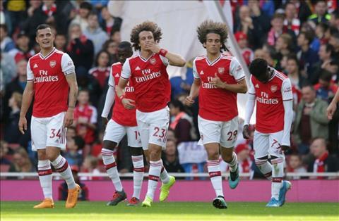 David Luiz ghi ban cho Arsenal