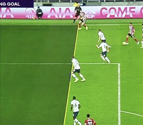VAR phạt việt vị ngón chân của cầu thủ Sheffield United hình ảnh